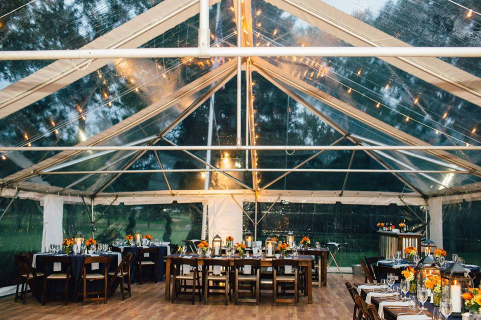 Stunning clear top tent on at a private property just north of Boston MA for a wedding reception. & Tented Wedding u0026 Events by Detailed Engagements