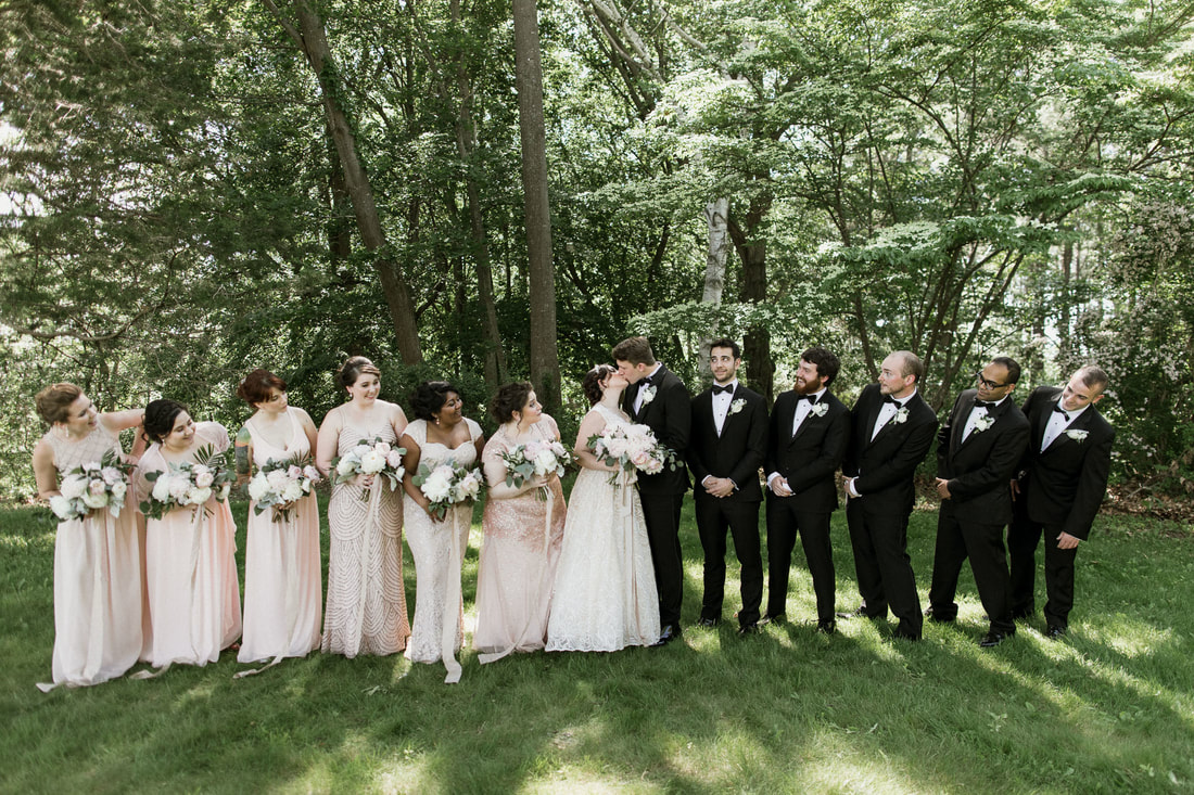 Pink Bridesmaid Black Tie Wedding Crane Estate Detailed Engagements Roy Rivas Photography
