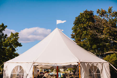 Gorgeous tent by Exeter Events u0026 Tents in Newburyport MA at Custom House Maritime Museum & Detailed Engagements | Wedding Planning Blog